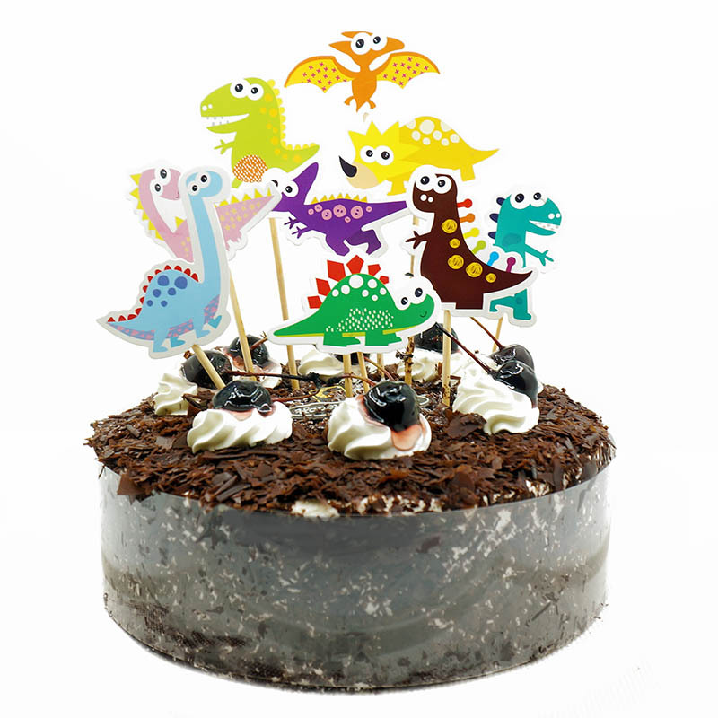 9Pcs Dinosaur Cupcake Toppers Picks Dinosaur Cake Toppers ...