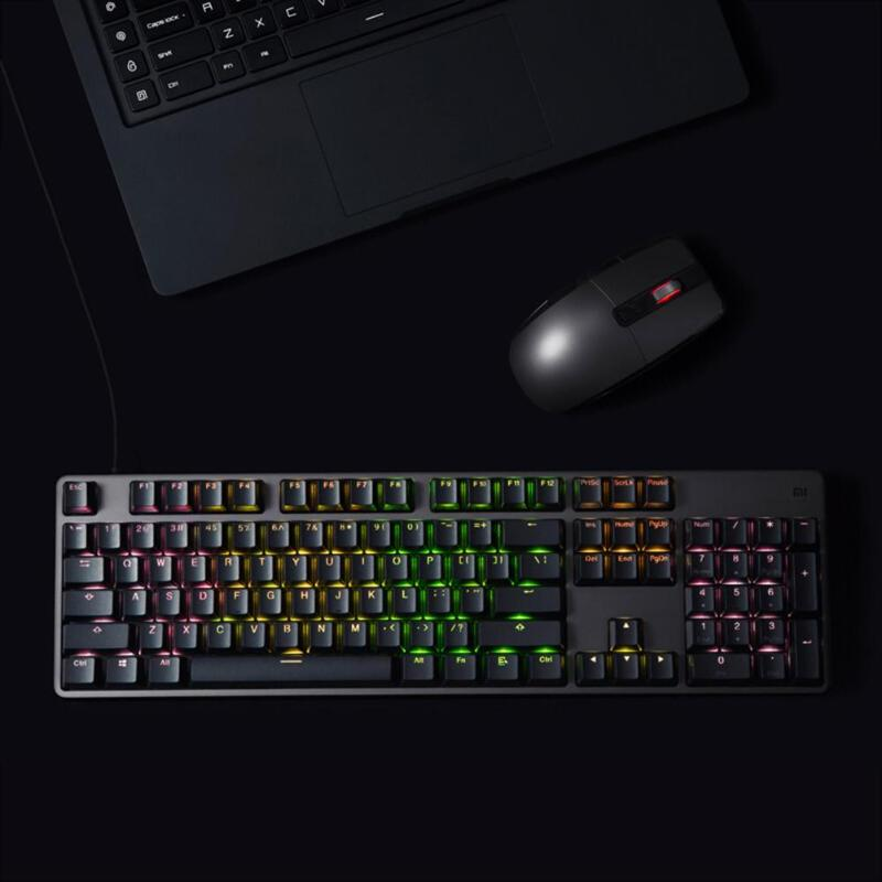 Image 2 - Xiaomi RGB Backlight 104Keys USB Wired Gaming Keyboard for PC Laptop Desktop high quility Xiaomi Keyboard for gaming working new-in Keyboards from Computer & Office