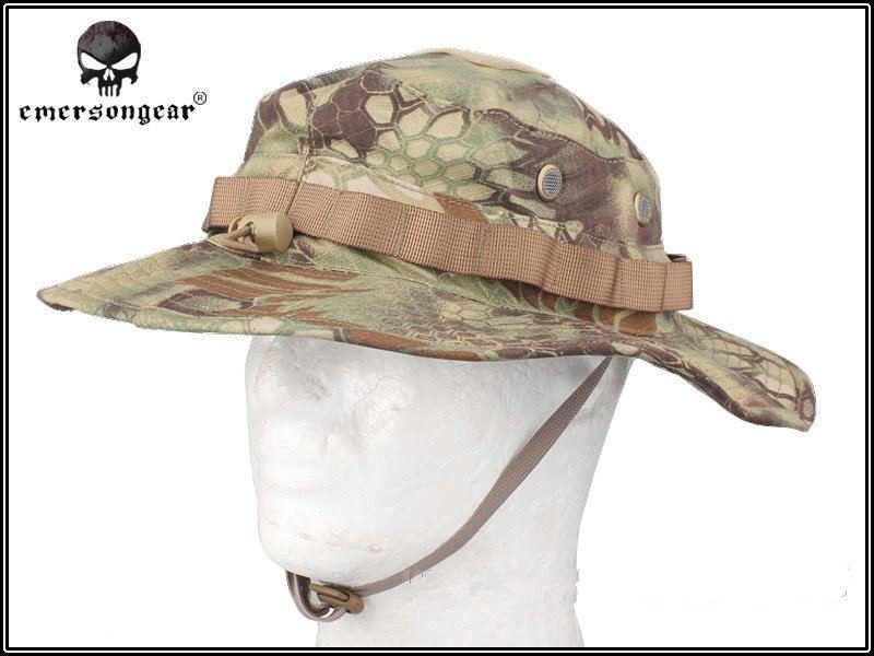 58affdeff1e07 ... EMERSON Boonie Hat Military Tactical Army Hat Anti-scrape Grid Fabric  camouflage hat Kryptek Mandrake