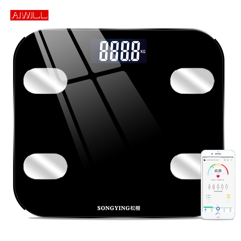 AIWILL Electronic Smart Weighing Scales Bathroom Body Fat bmi Scale Digital Human Weight Mi Scales Floor lcd display Health Gift(China)