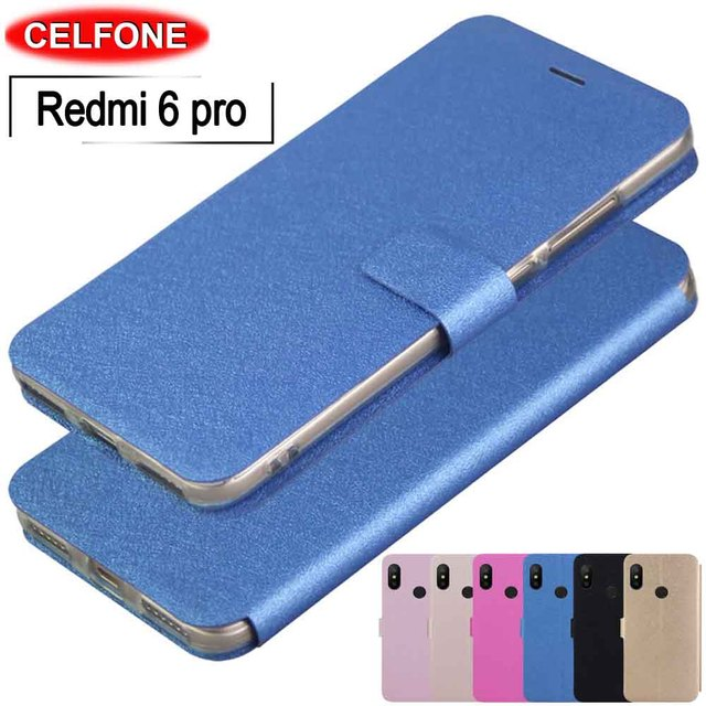 best sneakers bfe4a f0140 US $3.99 20% OFF|Xiaomi Redmi 6 Pro case Redmi 6 Pro global case Ultrathin  PU leather soft TPU stand cover for Xiaomi Redmi 6 pro phone flip case-in  ...