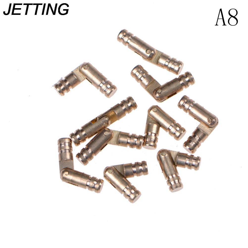 JETTING 10Pcs Copper Brass Wine Jewelry Box Hidden Invisible Concealed Barrel Hinge Finely Machined Mechanisms Gold