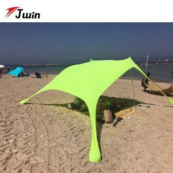 Summer Tourist Beach Umbrella Sun Shelter Beach Tent UPF50+ Outdoor Sun Awning Sun Canopy Beach Shade Parasol Beach Tarp Toldos