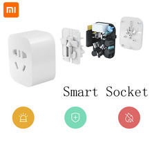 Xiaomi Mijia Original Smart Socket Plug Zigbee Mi Home WiFi Wireless Remote Adaptor Smart Socket Timer With APP Control Outlet xiaomi mijia smart plug socket enhanced dual usb fast charger zigbee basic socket no usb wireless wifi mi home app control