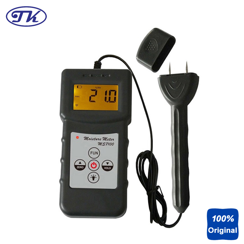 MS7100 Professional Wood Moisture Meter Timber Bamboo Tester over to 150 kinds wood ms310 tobacco moisture meter with wood paper bamboo concrete metope and other material