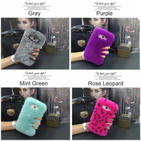 Fashion Genuine Rabbit Fur Phone Case Cover For Samsung J2 Prime J3 J5 J7 C5 C7
