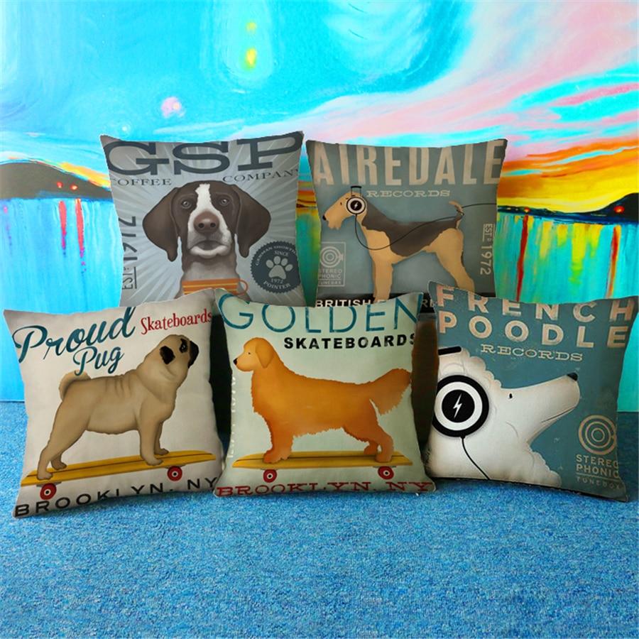 Dachshund Pug Câine Animal modern Europa Plain Decorative Velvet - Textile de uz casnic