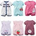 Chegada nova 2016 do bebê verão macacão de manga curta bebê meninos bodysuits meninas polo do bebê boys & girls algodão global bebê roupas