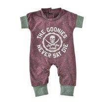 Newborn Baby Jumpsuits Summer Cartoon Skull Boys Girls Romper For Infant One-piece 2021 New Short Sleeve Letter Kids Baby Romper