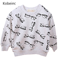 Hot Glasses Pullover Hoodies Boys Spring Autumn Top Outfit Fashion O-neck Long Sleeved Sweatshirt Moleton Infantil Tee Clothing