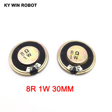 5pcs/lot New Ultra-thin Mini speaker 8 ohms 1 watt 1W 8R Diameter 30MM 3CM thickness 5MM