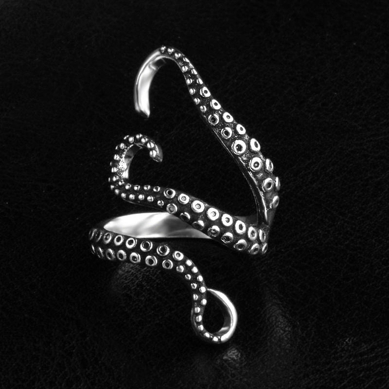JEXXI Cool Octopus Feet Design Ring Women Girls Fashion Jewelry Ring For Women Men Special Party Accessories Wholesale Price