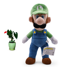 2018 New Arrival Anime Super Mario Bros Standing Luigi Doll Plush Soft Stuffed Baby Toy Great Christmas Gift For Children 41 cm 2018 new arrival anime super mario bros standing mario peluche doll plush soft stuffed baby toy great christmas gift for kids