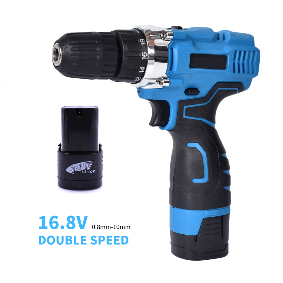 16.8v Power Tools Electric Drill Screwdriver Mini Hand Drills Double Speed Wireless Drill Taladro Inalambrico Accu Boormachine
