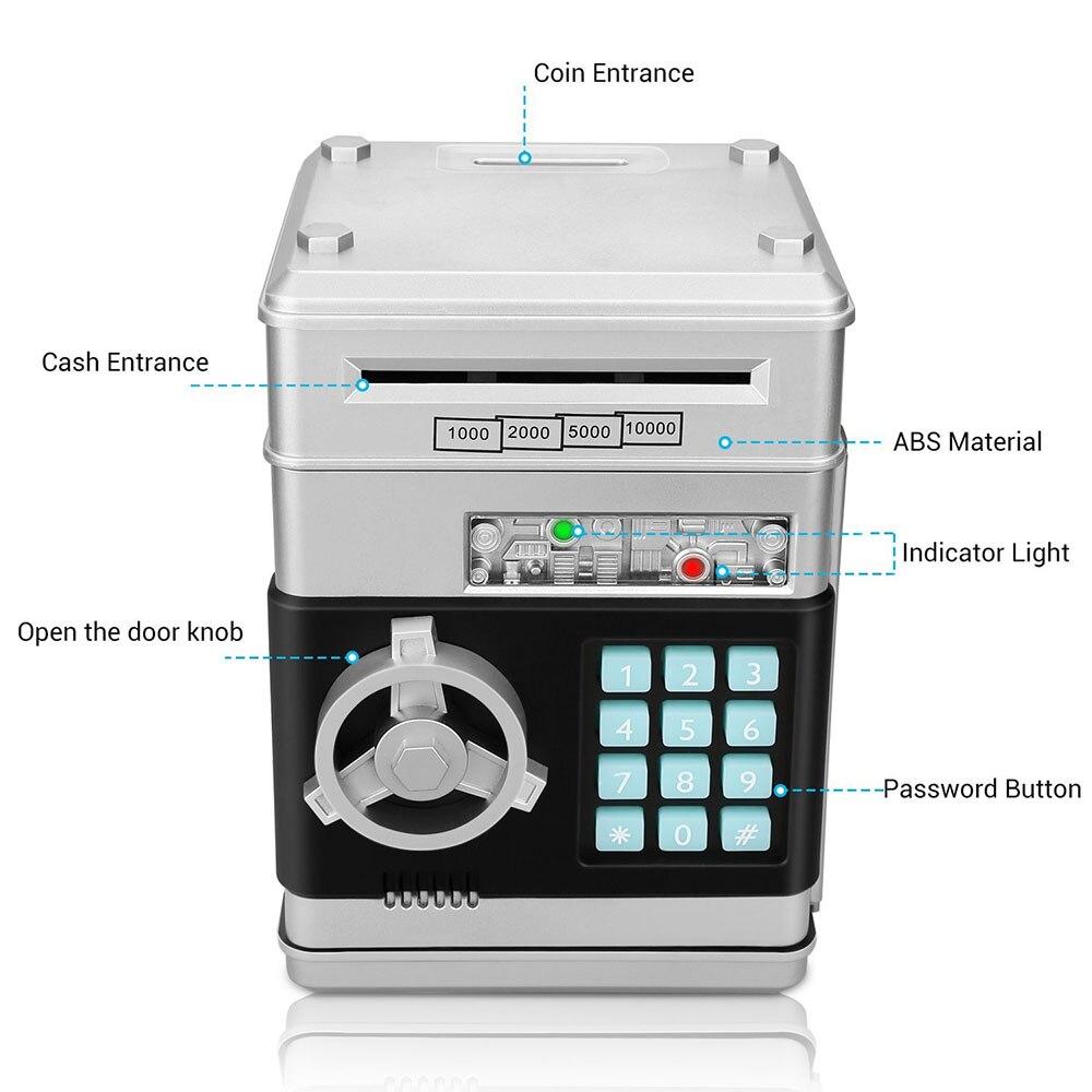Electronic Piggy Bank Safe Box Money Boxes for Children Digital Coins Cash Saving Safe Deposit Mini ATM Machine Kid Gift ATM-ZH (6)