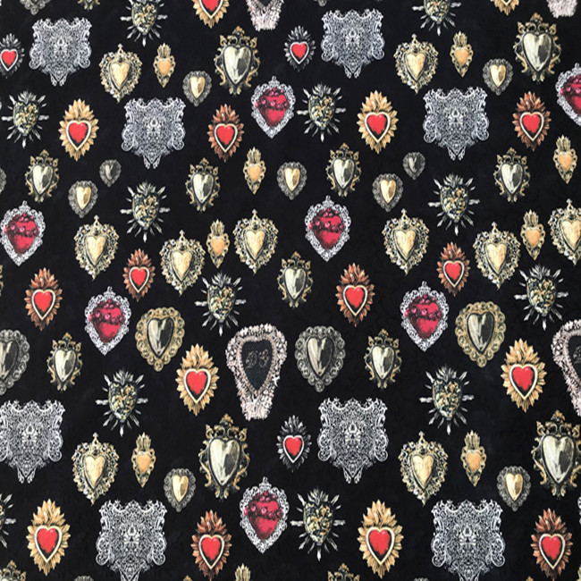 Search For Flights The Sacred Heart Black Embossed Jacquard Fabric For Woman Girl Spring Autumn Dresses Coats Jackets Pants Sewing Diy-af575 Parts & Accessories