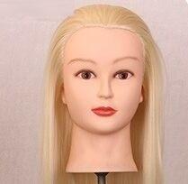 20 Longs Cheveux D'or Tête de Mannequin Pour Perruques Avec Support Femelle Mannequin Tête Coiffures Cosmétologie Affichage Perruque Titulaire