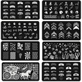 1pcs  New Designs  French Nail Art Stamping Plates Templates Rectangle For Nail Stamping Size 12*6mm