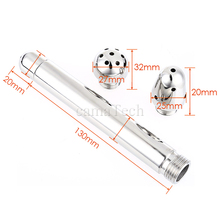Water Nozzle 3 Style Metal Cleaner Heads Vaginal Anal Plug Enemator