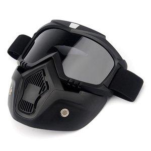 Image 5 - نظارات واقية للدراجات النارية مع وحدات قناع قابل للفصل خوذة ركوب نظارات السلامة Airsoft قناع الوجه درع متعدد الألوان عدسة