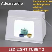 Adearstudio hotsale caixa de luz fotografia 46 cm Caixa Levou tiro Lâmpada Estúdio lightbox Produtos Equipamentos de Tiro Jóias CD50