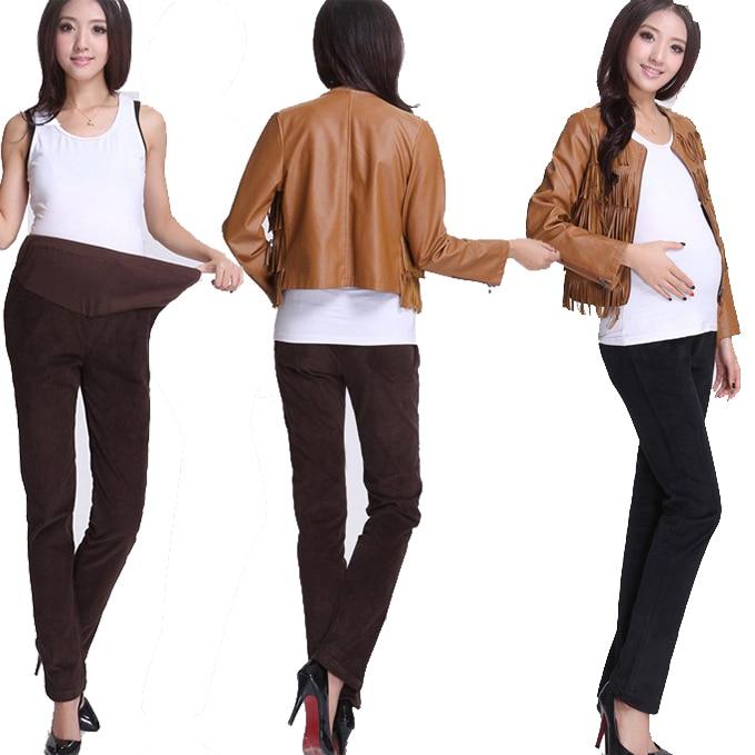 comprar corduroy mujeres pantalones de maternidad del invierno de maternidad caliente pantalones para mujeres embarazadas colores mujeres