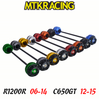MTKRACING For BMW R1200R 2006 2014 C650GT 12 15 CNC Motorcycle Front rear wheel Axle Slider shock absorber Falling Protection