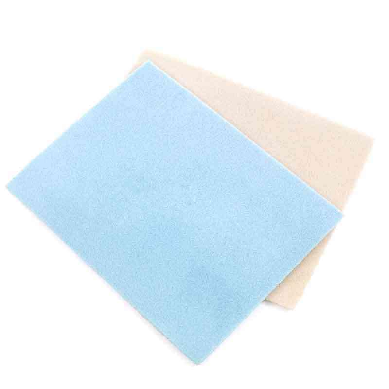 (צבע אקראי ספינה) 2PCs כחול חום חרוז מחצלות תכשיטי ואגלי כלי החלקה 30x23cm נוהרים ספוג פוליאסטר רשת מחצלת עבור DIY