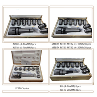 8Pcs Morse Taper Collet and Chuck Spanner Set MT4 MT3 MT2 R8 NT40 NT30 Lathe Indexable Milling Cutter Tools