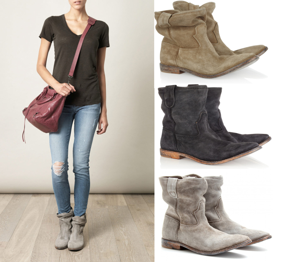 Women Ankle Boots  Suede Autumn Shoes Flat Nubuck Leather Retro Distressed Biker Boots Women Motorcycle Boots Shoes  Cool
