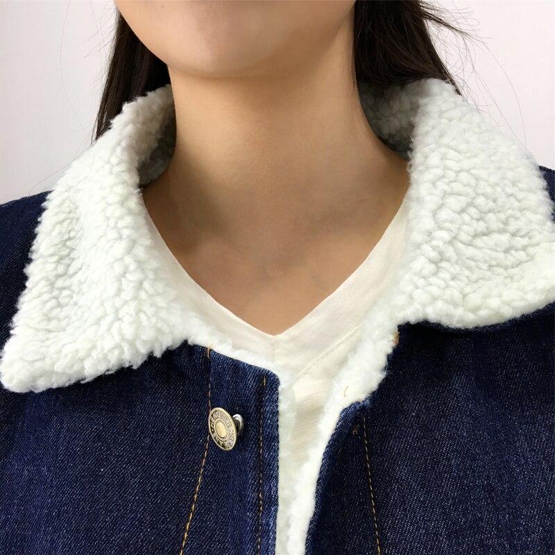 Plus Mode Taille 2xl Manteau Laine Jean 2018 Cowboy Chaud D'agneau Hiver Lon Denim De Veste Bleu En Coton La Nw657 Outwear Nouveaux À Femmes qxRwH1q