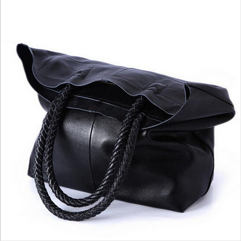 2016 New Women font b Handbag b font Genuine font b Leather b font Shoulder Bags