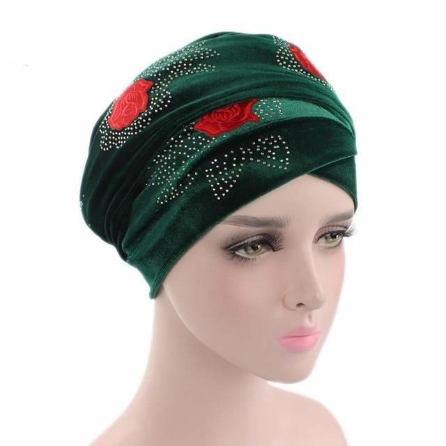c5caca3b6c6f3 New Fashon Women Muslim Stretch Turban Hat Cotton Chemo Flower Cap Hair  Loss Head Scarf Wrap Hijib Cap