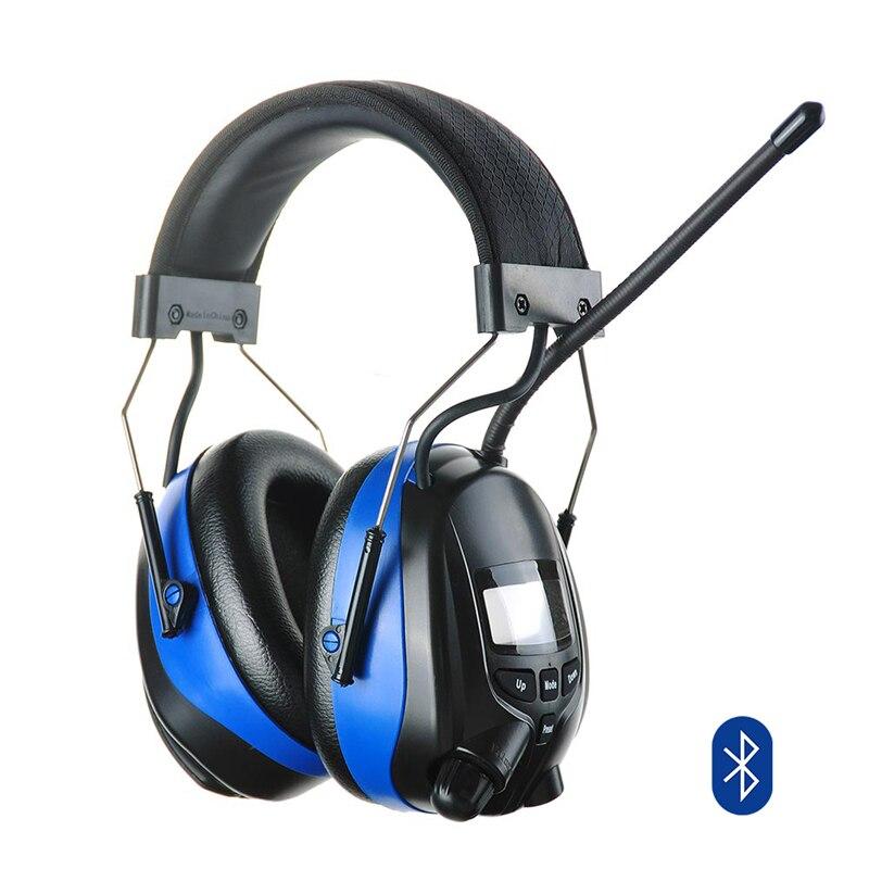Protector auditivo Bluetooth AM FM Radio orejeras reducción de ruido electrónico audífonos protectores de oídos 1 más EHD9001TA activa Cancelación de ruido híbrido TWS Gaming auriculares Bluetooth aptX 5,0/AAC carga inalámbrica HiFi