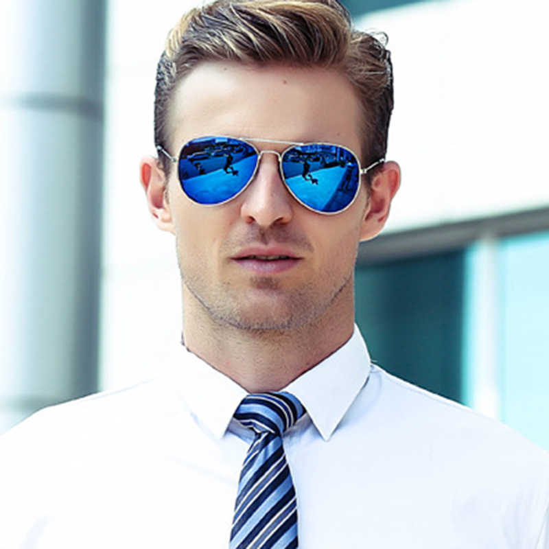 2019 New Vintage Classic Sunglasses Men Oval Luxury Brand Designer Driving Metal  UV400 Mirror Sun Glasses Female Oculos De Sol