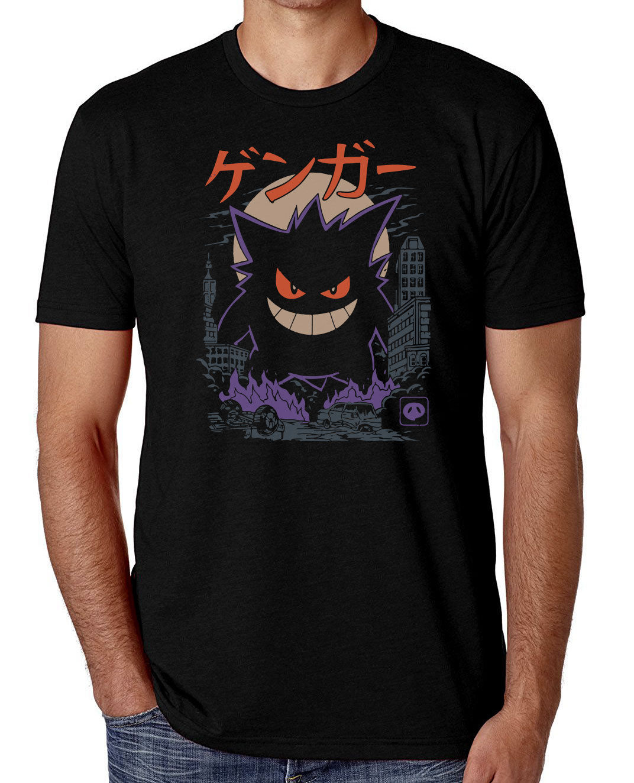 Gengar Kaiju Japan Style Pokemon   T  -  Shirt   Men's Comedy   T  -  Shirt   100% Cotton Short Sleeve O-Neck Tops Tee   Shirts   Fashion 2018