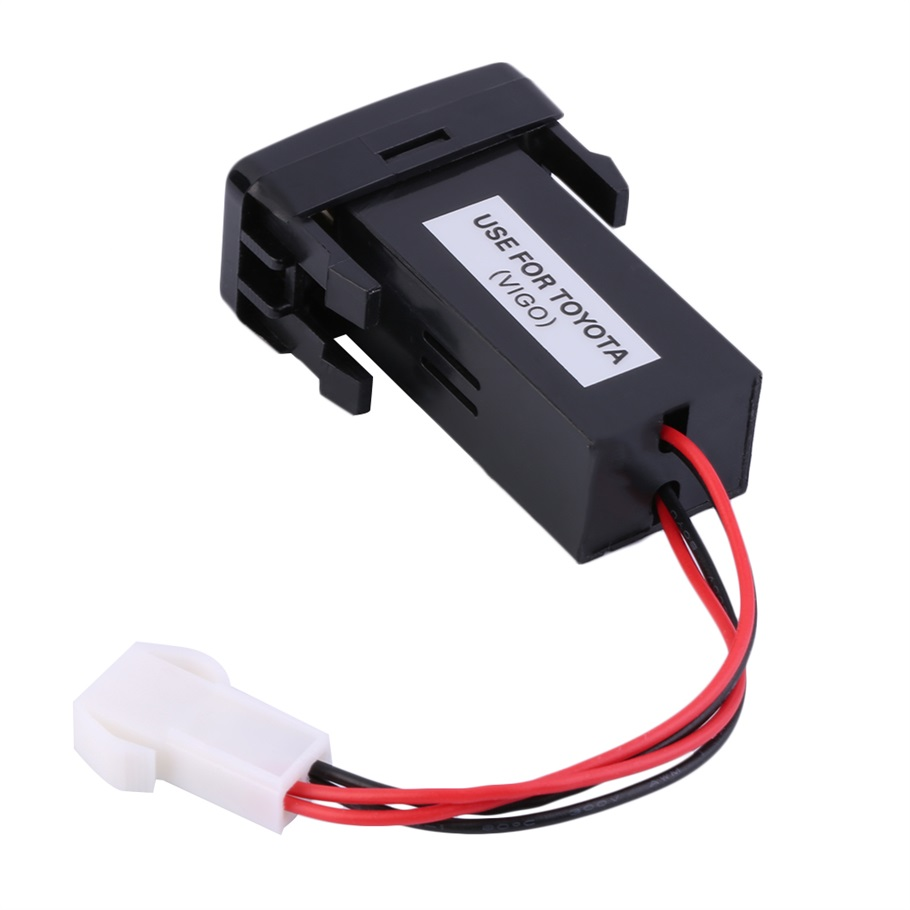 Auto Car 2.1A Dual USB Port Charger Dashboard Mount For Phone + Audio Input for Toyota VIGO Hot Selling
