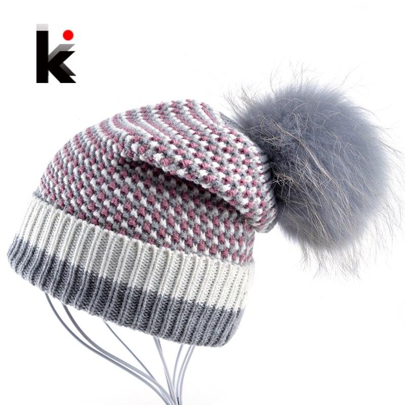 Winter Knitted Wool Hat Women'ss