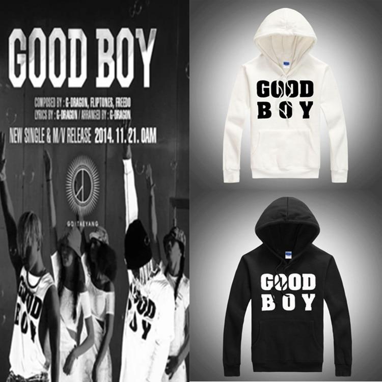 Kpop right Zhi Long good boy thick hooded shirts successful tool Bigbang k pop song cap baseball uniform hoodies wool GD k pop
