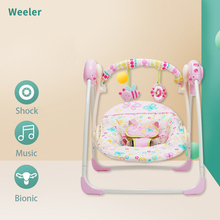 Newborn Baby Rocking Chair Multi-function Bebe Sleep Bed With Music Swings Cradle Seat Portable baby Chair Kids Dining Chair
