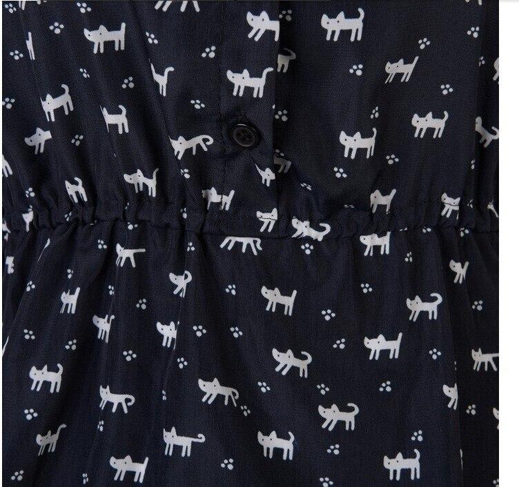 Cat Prints Pattern Casual Dress