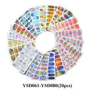Оптовая продажа, наклейки для ногтей, водные переводки, смешанные бабочки, цветочные животные, черный геометрический дизайн, слайдер, декор ...