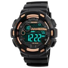SKMEI 1243 Fashion Sports Digital Watch Men Round Dial Waterproof