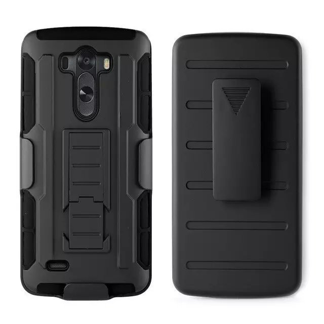 Armor G3 Sport Style TPU + PC Cool coque G 3 Case For LG G3 Men Heavy Duty Stand Cover For LG G3 case black