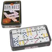 Coffret Domino en bois jeu de jouets 28 Double 6 dominos de voyage pour enfants enfants