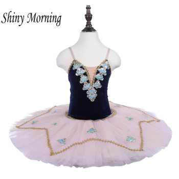 Professional Ballet Tutus Adult Swan lake Ballet Dance Clothes Pancake tutu Child Ballerina Figure Skating Dress pink black