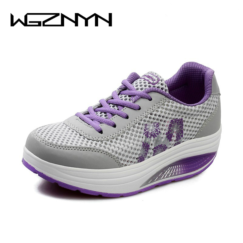 WGZNYN 2018 Spring Autumn Women Flat Platform Shoes Woman Moccasin Zapatos Mujer Ladies Shoes Casual Flats Moccasins Sneakers pinsen women flat platform shoes woman moccasin zapatos mujer platform sandals slip on for ladies shoes casual flats moccasins