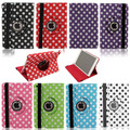 360 Rotating Polka Dot for ipad mini case luxury Leather Stand Flip Case Cover For Apple Ipad mini 12 retina Tablet  Accessories