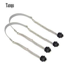 Tanqu Новая 1 пара Obag Серебряная длинная двойная цепь OT T OBag ручки для Obag EVA O сумка женская сумка на плечо