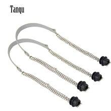 Tanqu yeni 1 çift Obag gümüş uzun çift zincir OT T OBag için kolları Obag EVA O çanta tote kadın çantası omuz çantası